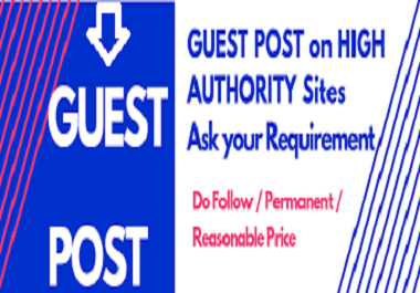 Write and publish guest post on high quality for ranking fast