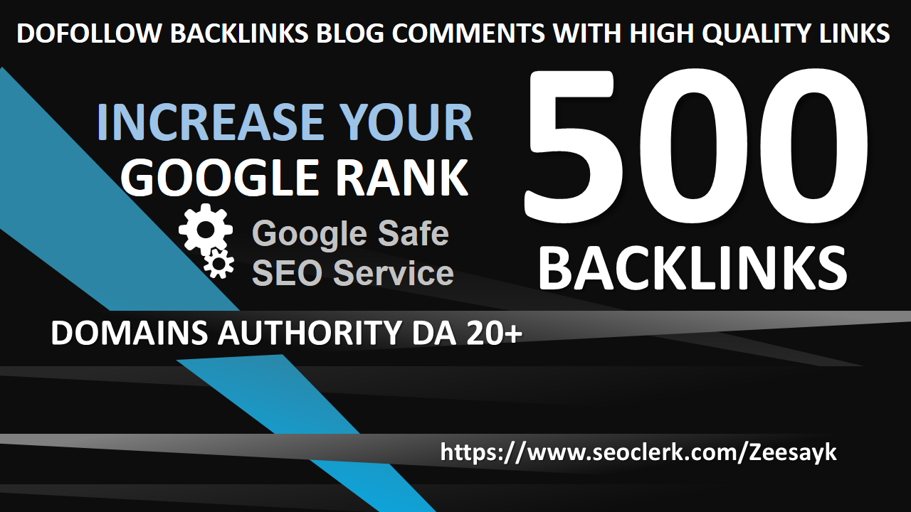 Increase Your Google Rank with high Quality links