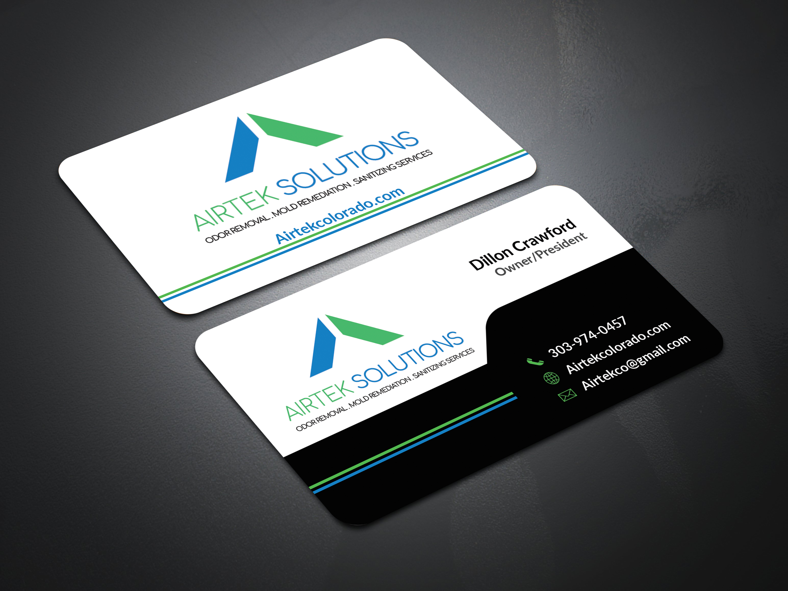 I will design business card with two concepts in 1 hour