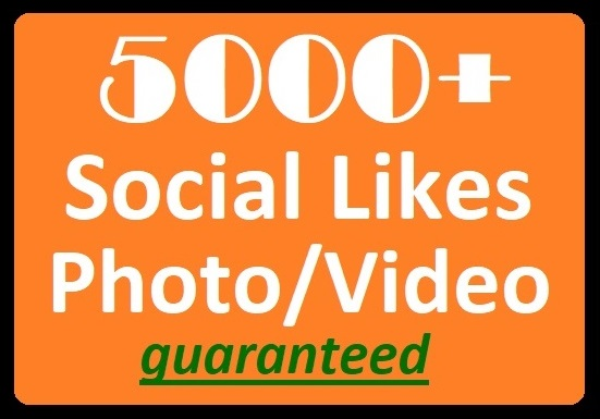 3000+ Social Likes on Pics, Videos, High-quality Promotion faster