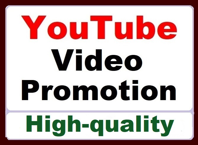 High Retention YouTube Video Promotion Organic Service