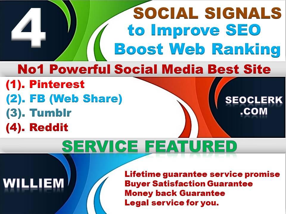 Powerfull Top 4 Platform 14,052 Reddit /Tumblr / Pinterest /Mixed/Social Signals/Backlinks/Bookmarks