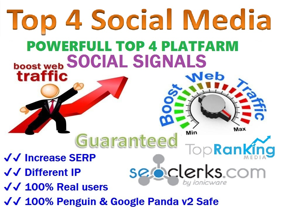 Powerfull Top 4 Platform 14,052 Reddit /Tumblr / Pinterest /Mixed/Social Signals/Backlinks/Bookmarks