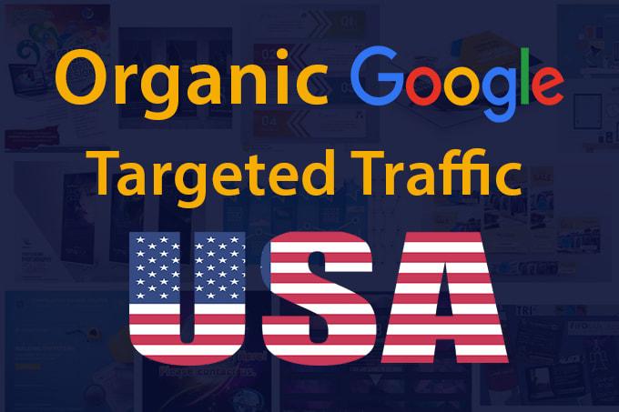 I will send google USA traffic with SEO keywords