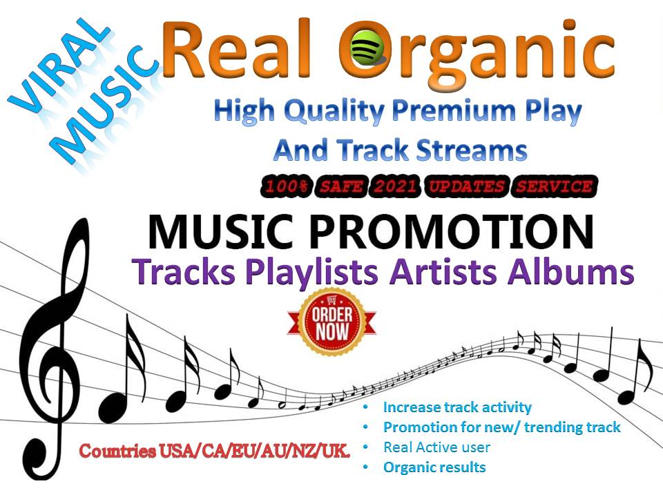 Build High Quality Premium Play And Track Streams For Your Track Song Artists Playlists