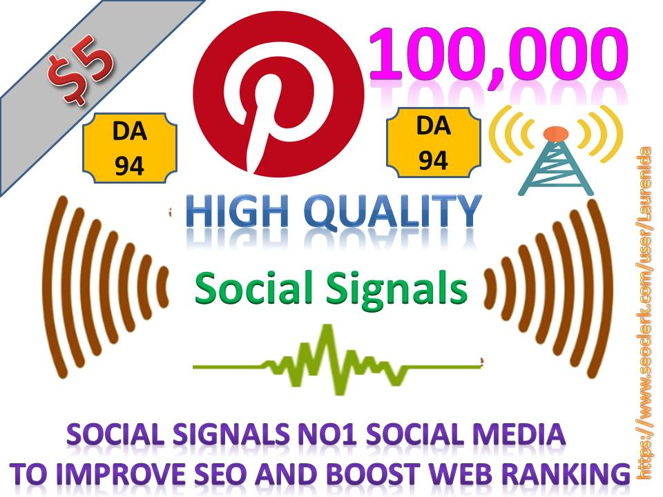Rocket Delivery 100,000 High Quality Pinterest Share Social Signals to Improve SEO Boost Web Ranking