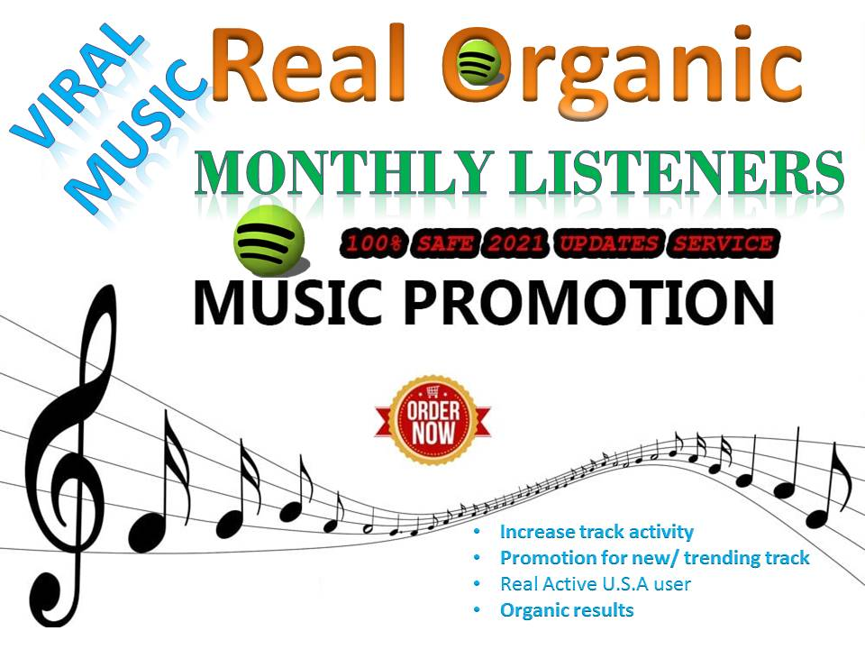 Build USA High Quality Monthly Listeners And Track Streams For Your Artist Profile Promotion