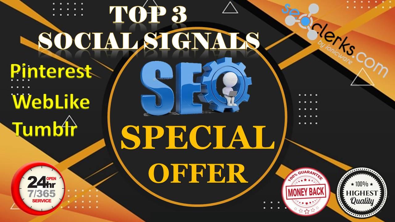 13,200 Real High Quality Pinterest WebLike Tumblr Share Social Signals SEO & Social Campaigns