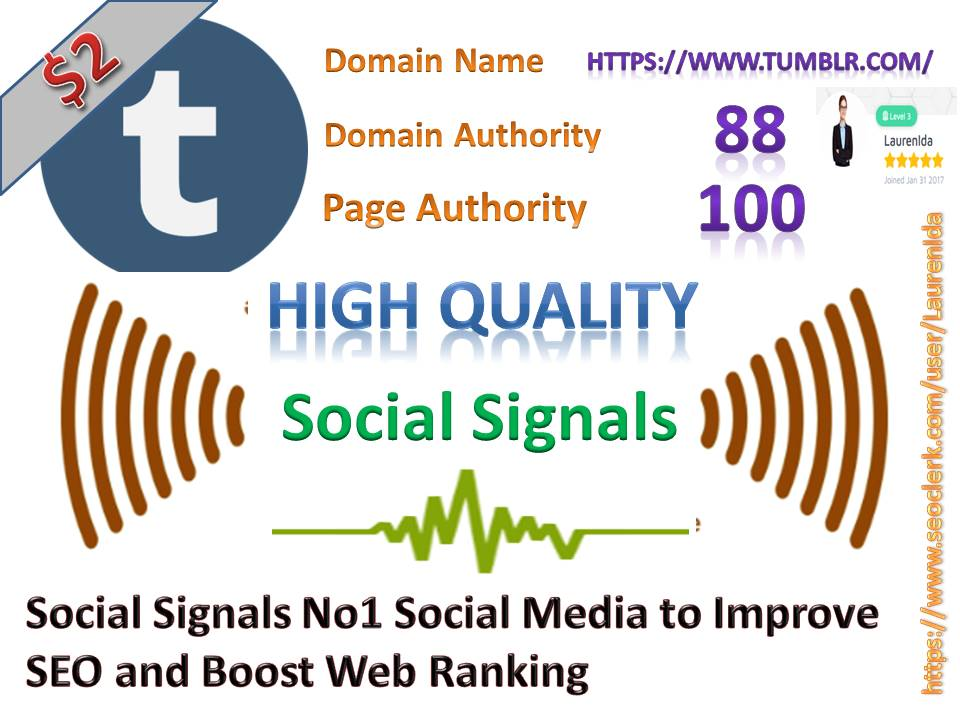 Rocket Delivery 860 High Quality Tumblr Share Social Signals to Improve SEO and Boost Web Ranking