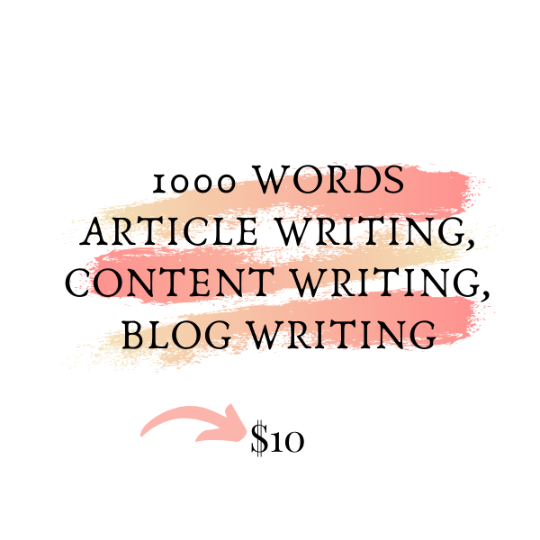 1000 Words Article Writing About Lifestyle Blog