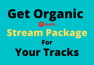 Get organic Stream package for your tracks