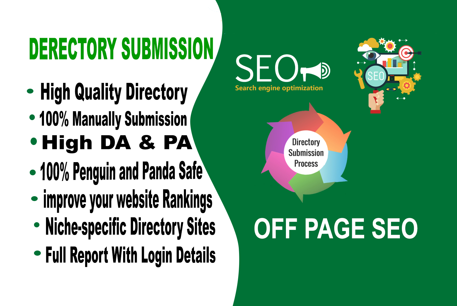 I will manually do directory submission high DR & PR websites