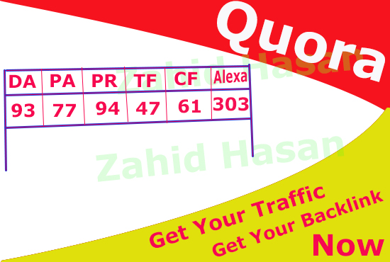 50 Quora answer for backlink , Traffic, Boosting business , Increase Google - Alexa and Moz rank.