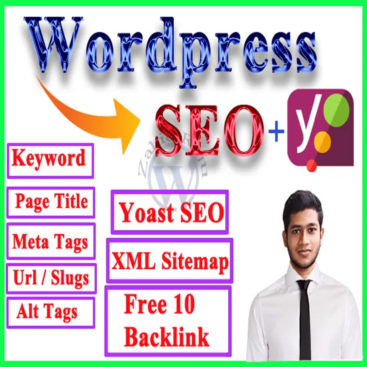 I will perform wordpress seo optimization or on page seo optimization using yoast seo plugin
