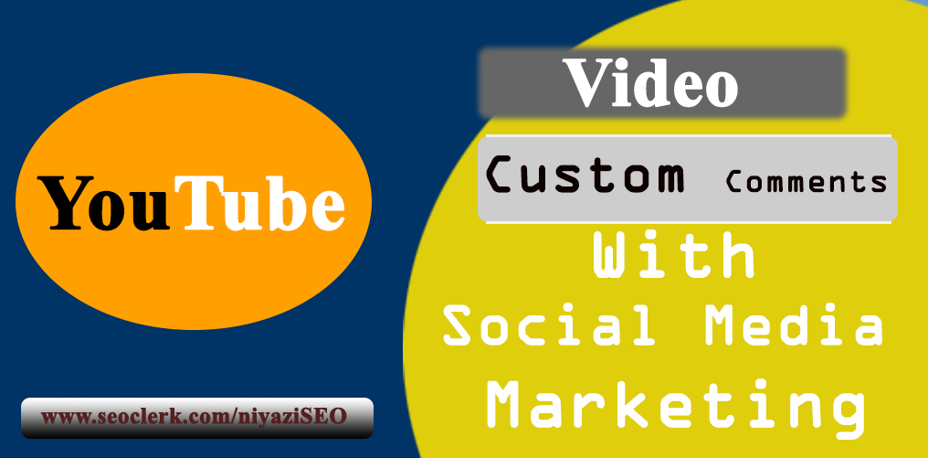 High Quality Video Comments With Social Media Promotion