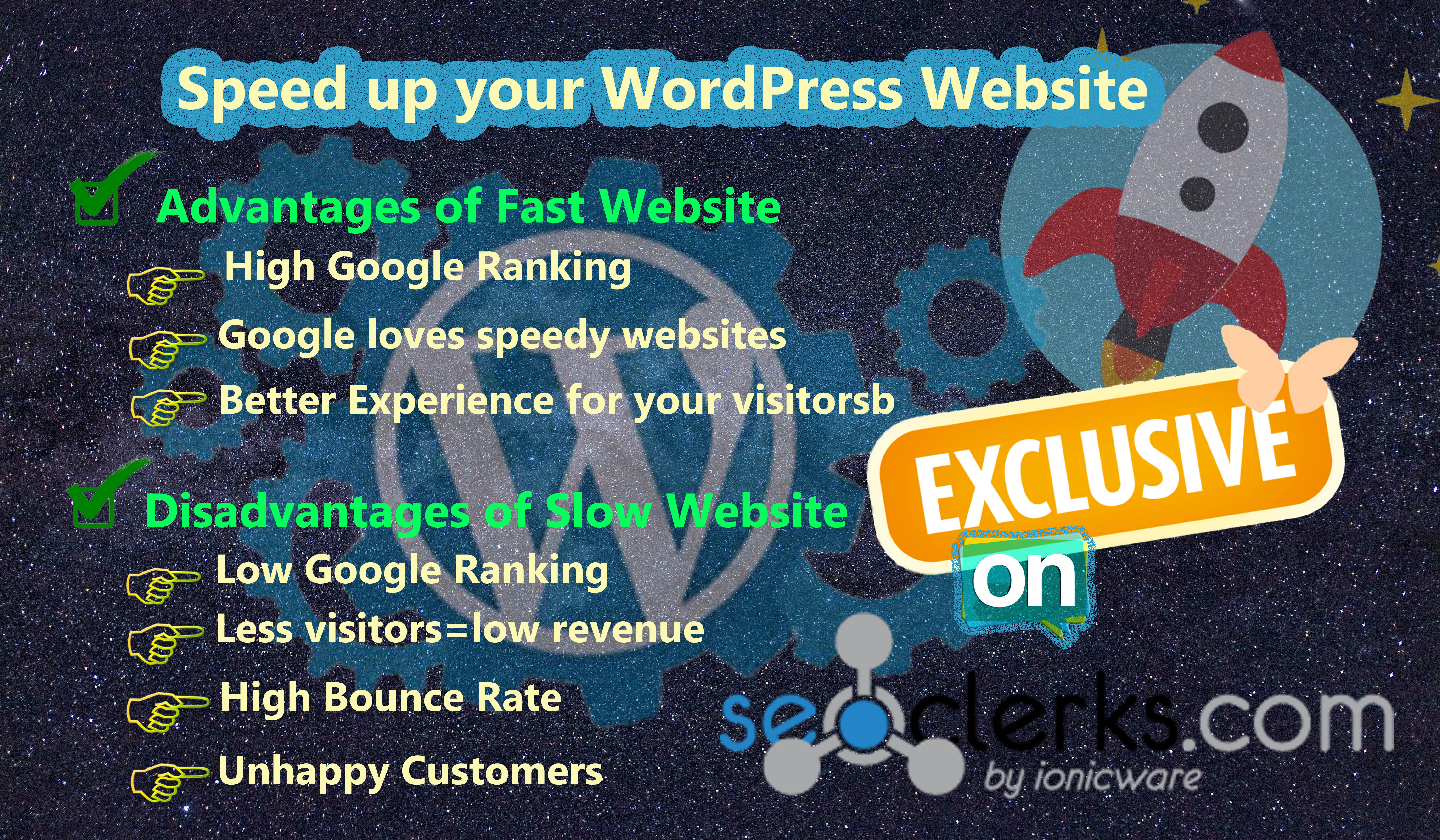 I will speed up your WordPress Website in 24 hours