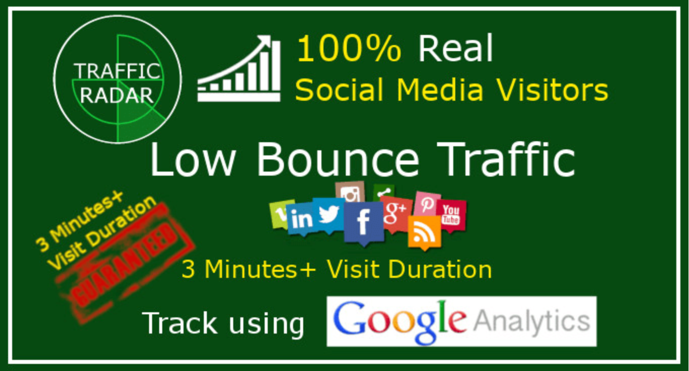 I will drive low bounce traffic with 3 minutes visit duration
