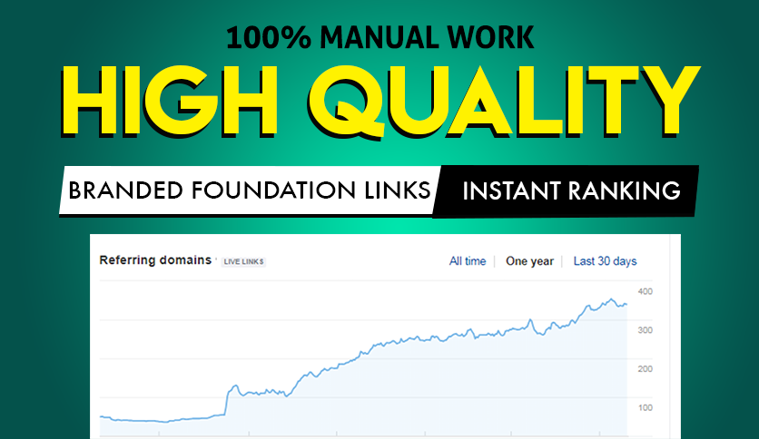 High Quality Branded foundation manual SEO link building