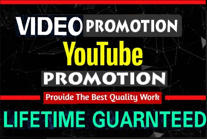 NON-DROP & HIGH QUALITY PROMOTION Youtube Promotion few hrs delivery time