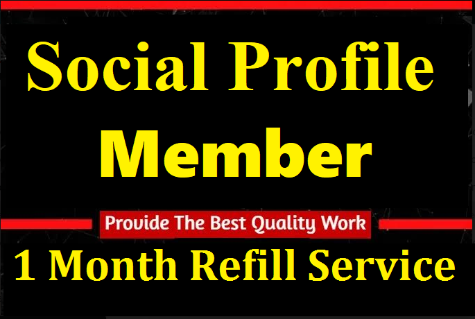 High Quality Profile Member Social Marketing Promotion