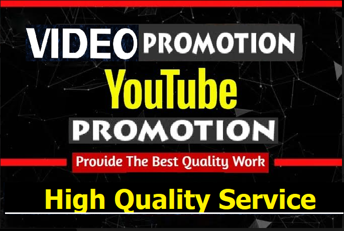 NON-DROP & HIGH QUALITY PROMOTION Youtube Promotion