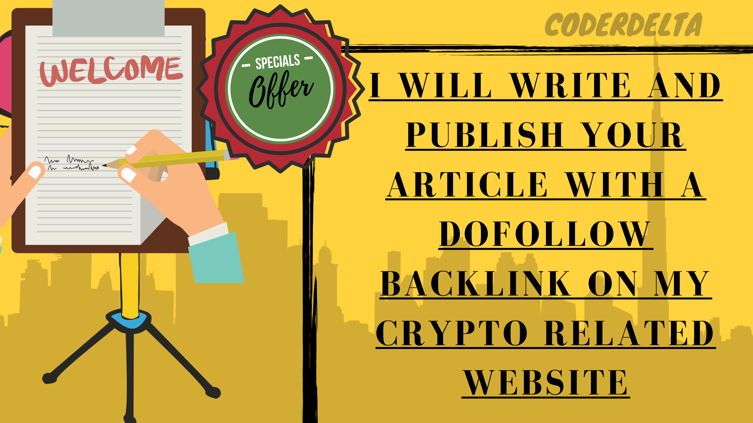 I Will Write and Publish your article With a DoFollow Backlink on my CryptoCurrency Related Website