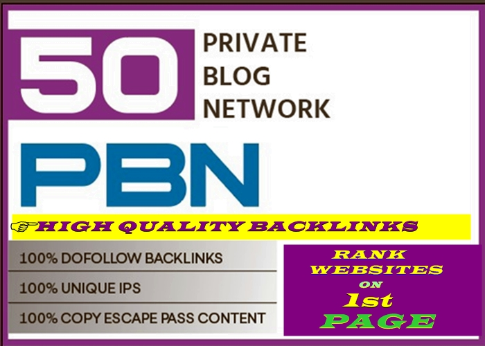 Get you to a complete 50 high DA/PA and TF/CF Homepage pbn backlinks