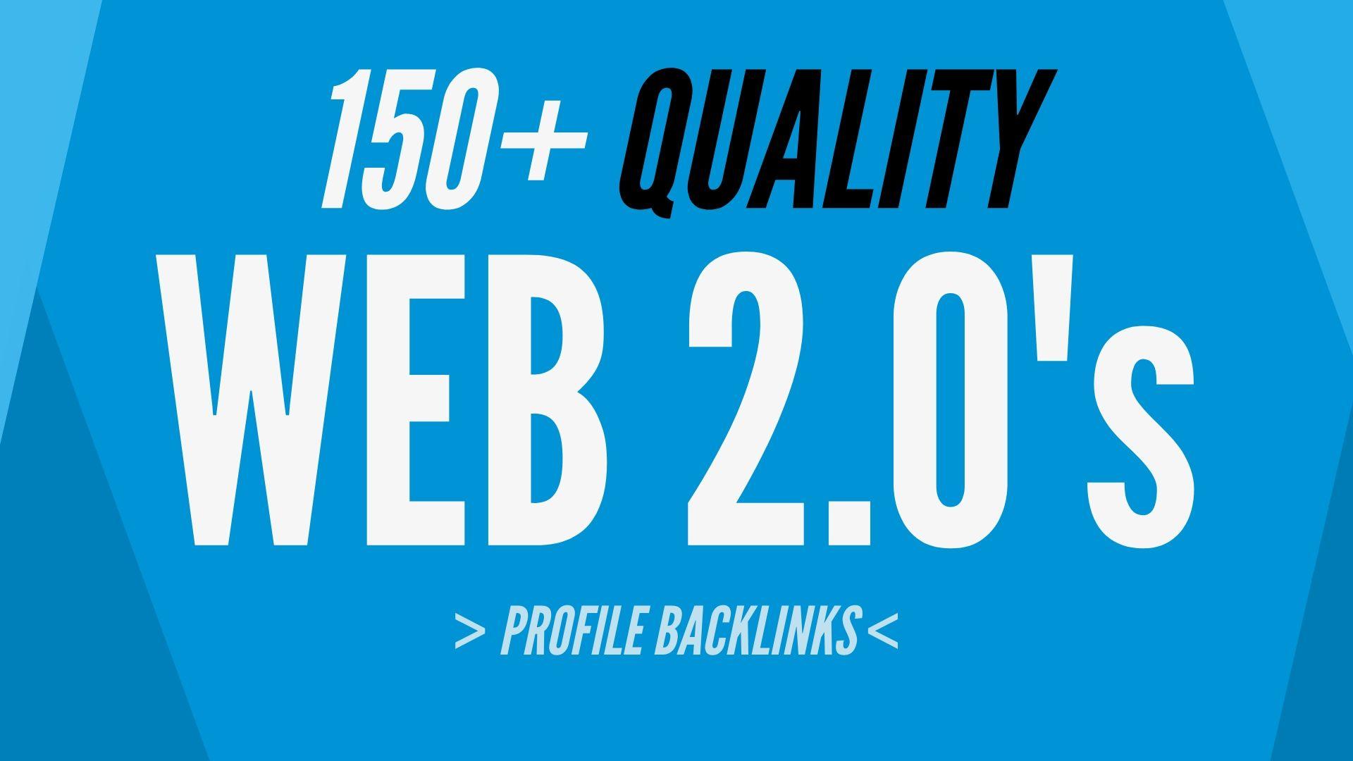 150+ Web 2.0 Profile High Authority Backlinks