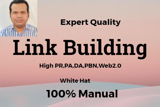 I will do quality backlink with high pr, pa, da sites do follow web 2.0 pbn