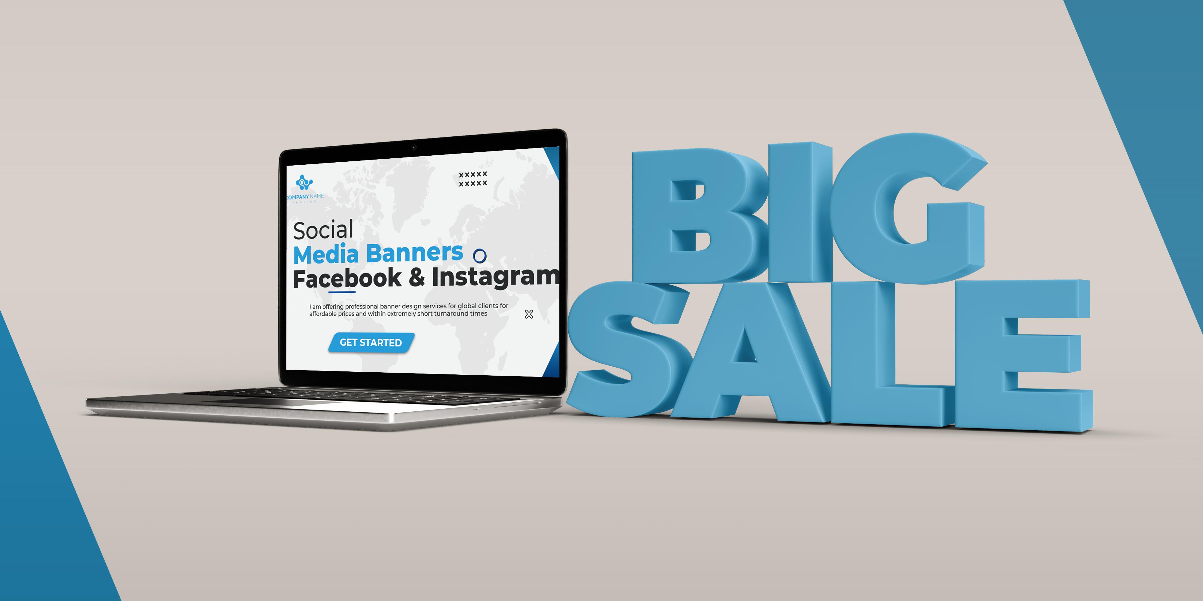 Cheap Social Media Banner Designing