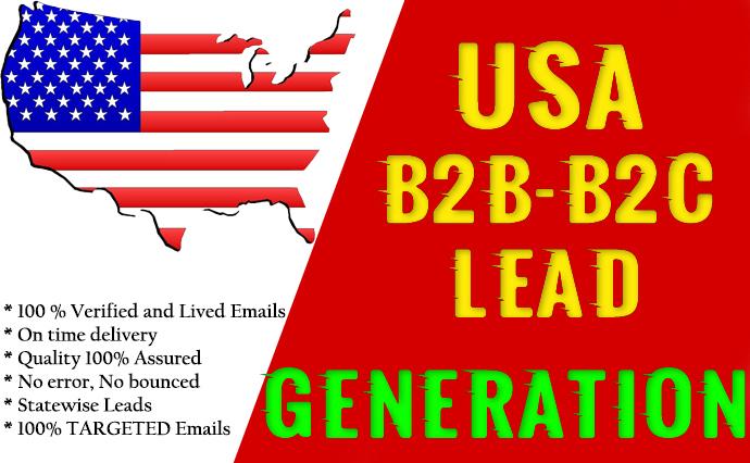 B2B Lead Generation - USA, UK, Canada Lead Geneartion