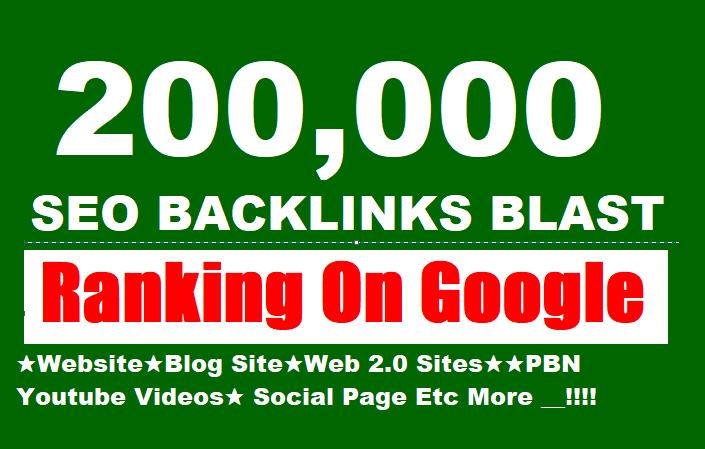 200,000 GSA SER SEO Website Ranking Backlinks Blast