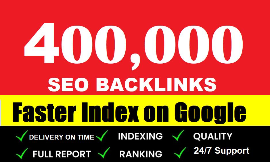 400,000 Gsa SER Powerful SEO Backlinks For Faster Index on Google
