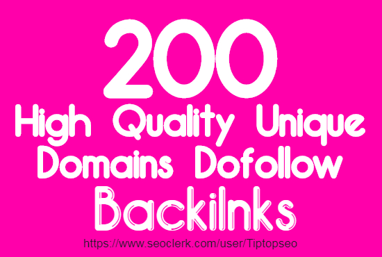 I will create unique domains dofollow backlinks