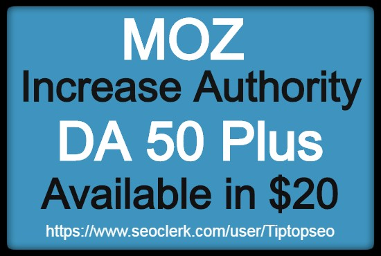 I will increase domain authority DA 45+ quickly