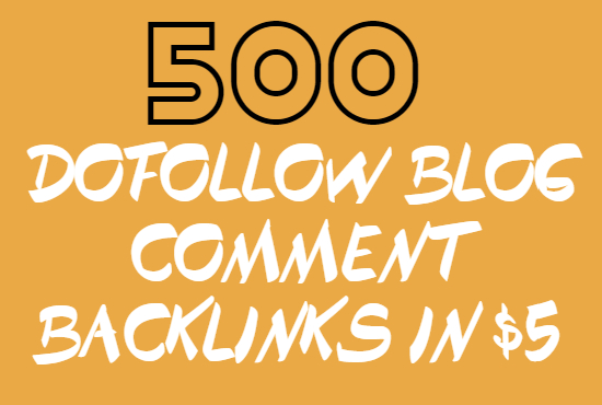 I will create 500 Dofollow High Quality Backilnks