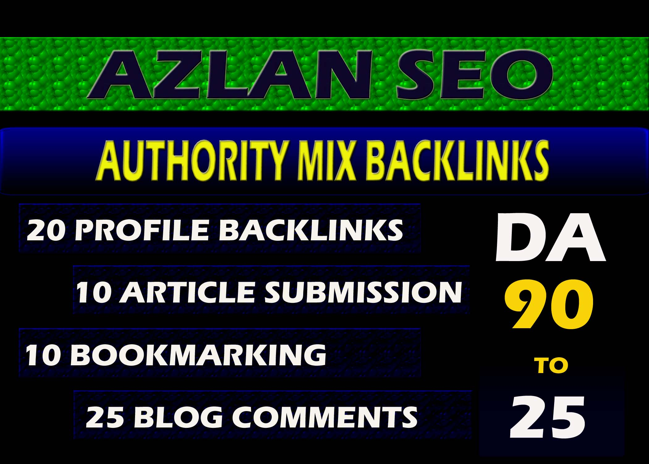 Get 65 Authority Build Up Mix SEO Backlinks
