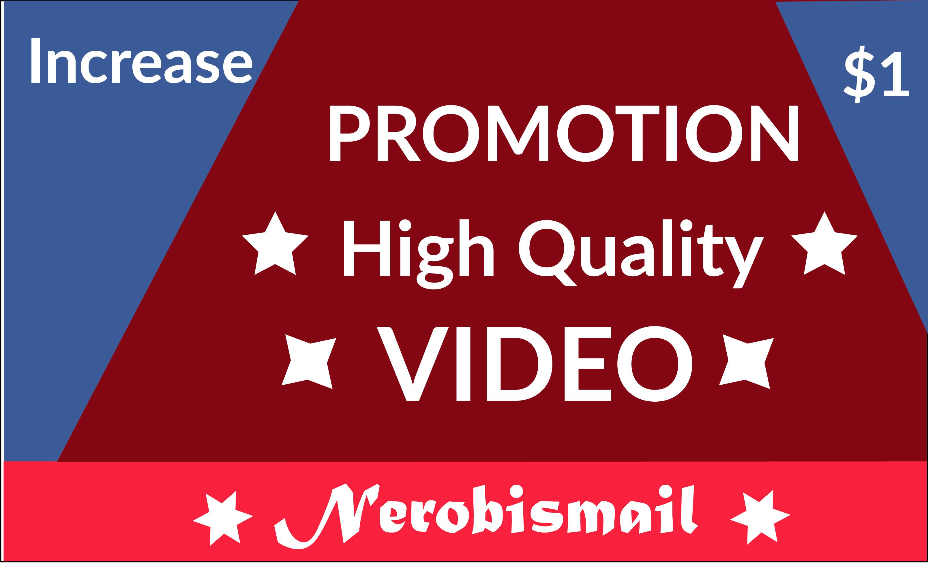 Increase HQ profile promotion video social media world user