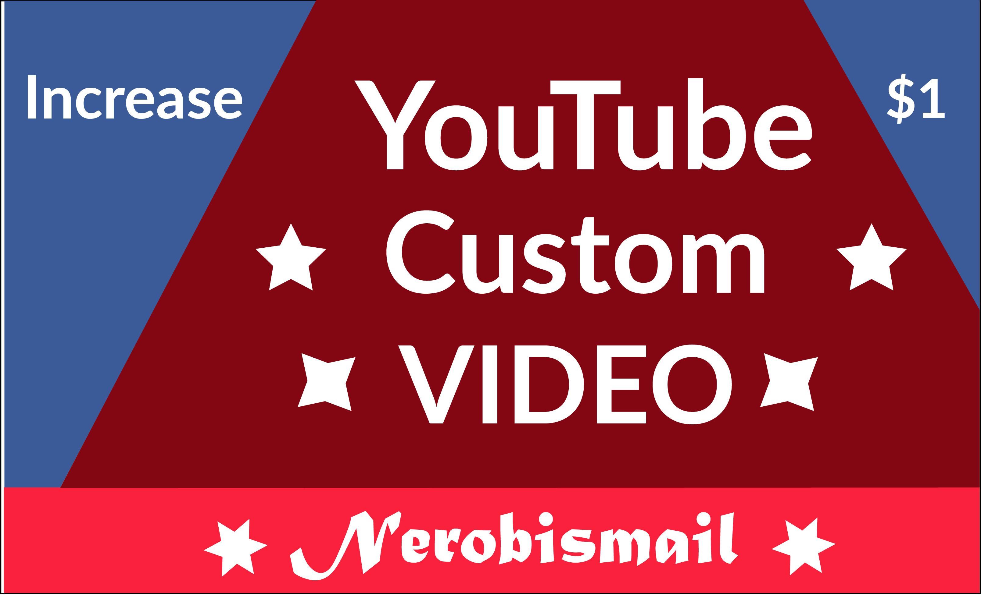 Increase HQ profile custom YouTube videos Promotion world user