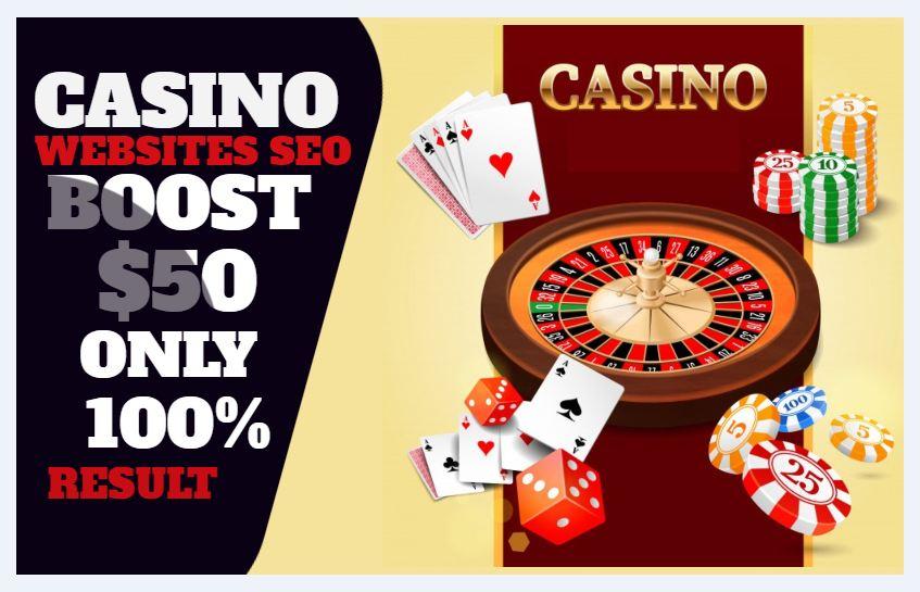 I will Build 2500 Powerful SEO Backlinks for Casino,  Gambling or Poker Websites