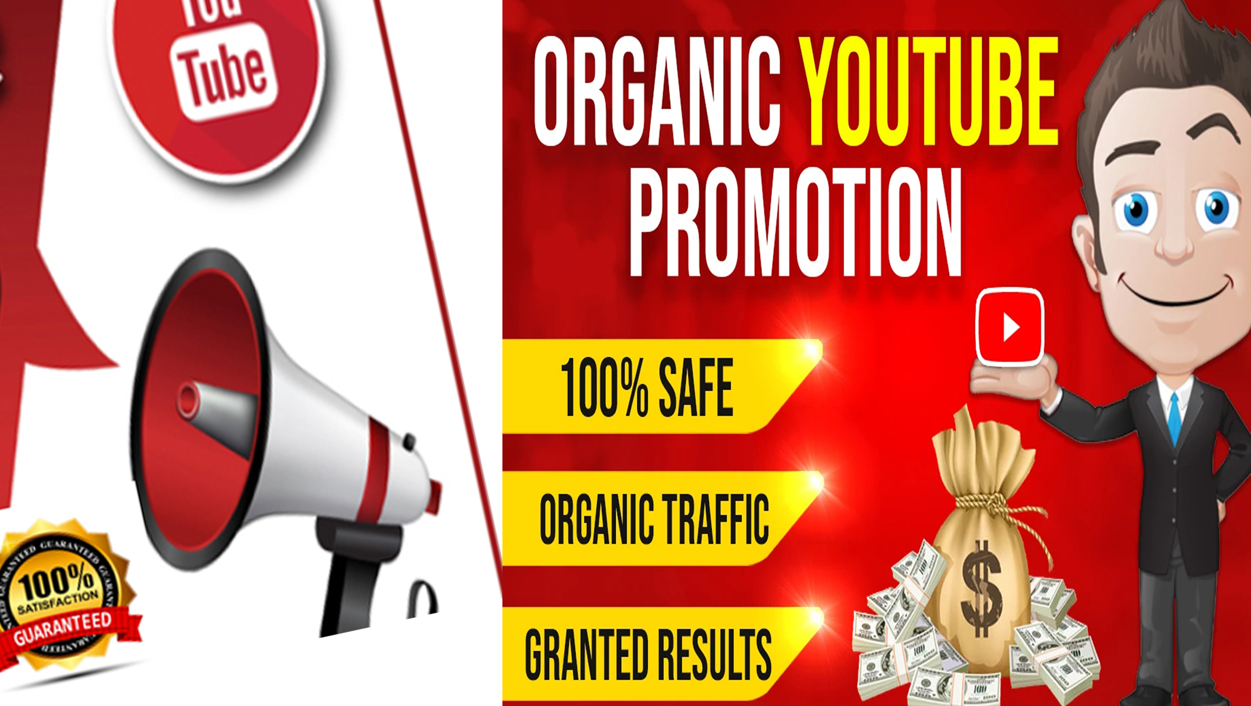 ALL IN ONE PACKAGE FOR YOUTUBE VIDEO AND CHANEL PROMOTION VIA REAL AUDIENCE