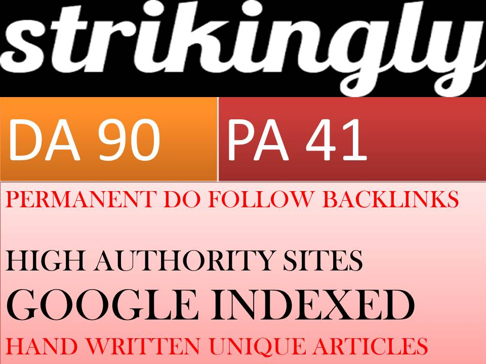 Write and Publish Guest Post on a High DA Website Strikingly DA-87