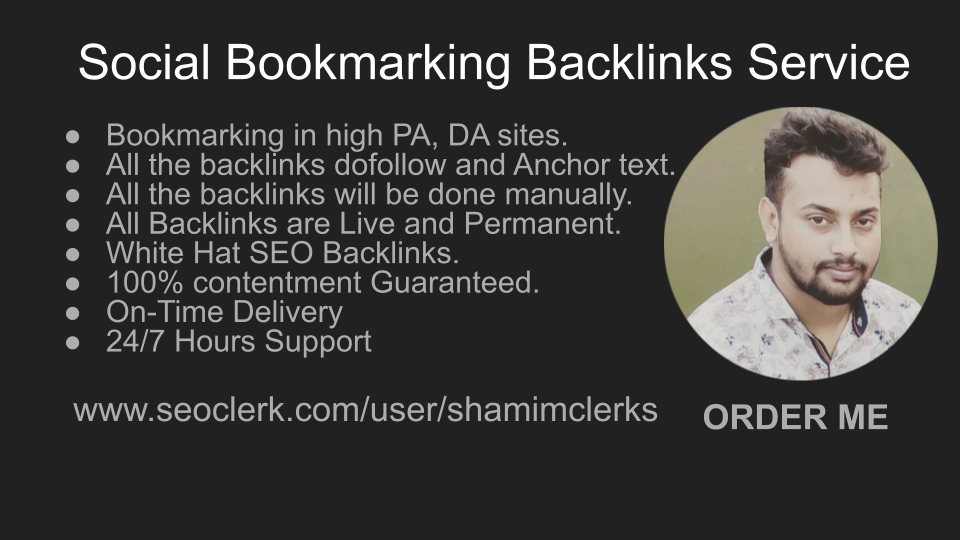 I will build 20 high da do follow social bookmarking backlinks
