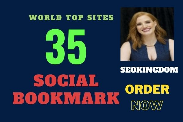I will do 35 social bookmarking Submission on high PR backlinks