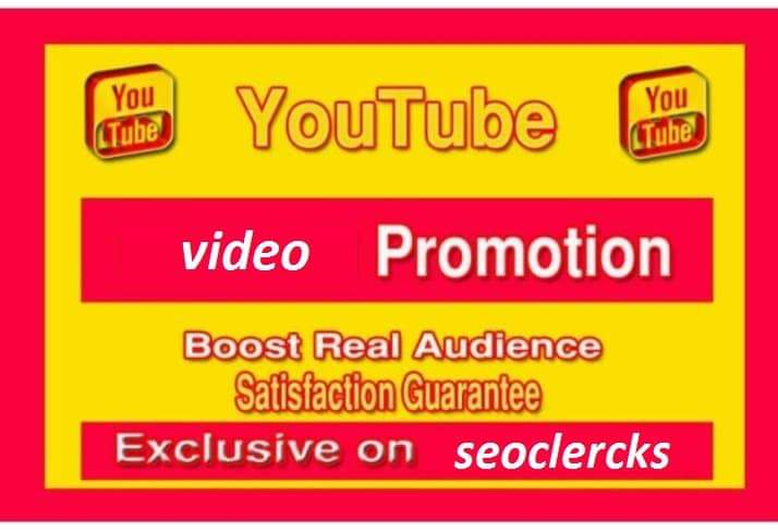 YouTube promotion social media marketing for your video