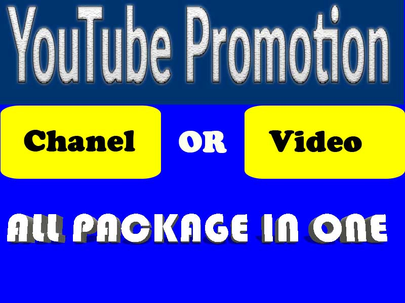 Promote your New Chanel or Video YouTube Promotion