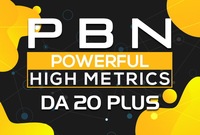 Build in 50 Pbn Backlinks Permanent High DA20+ Links Website Google Ranking No. 1