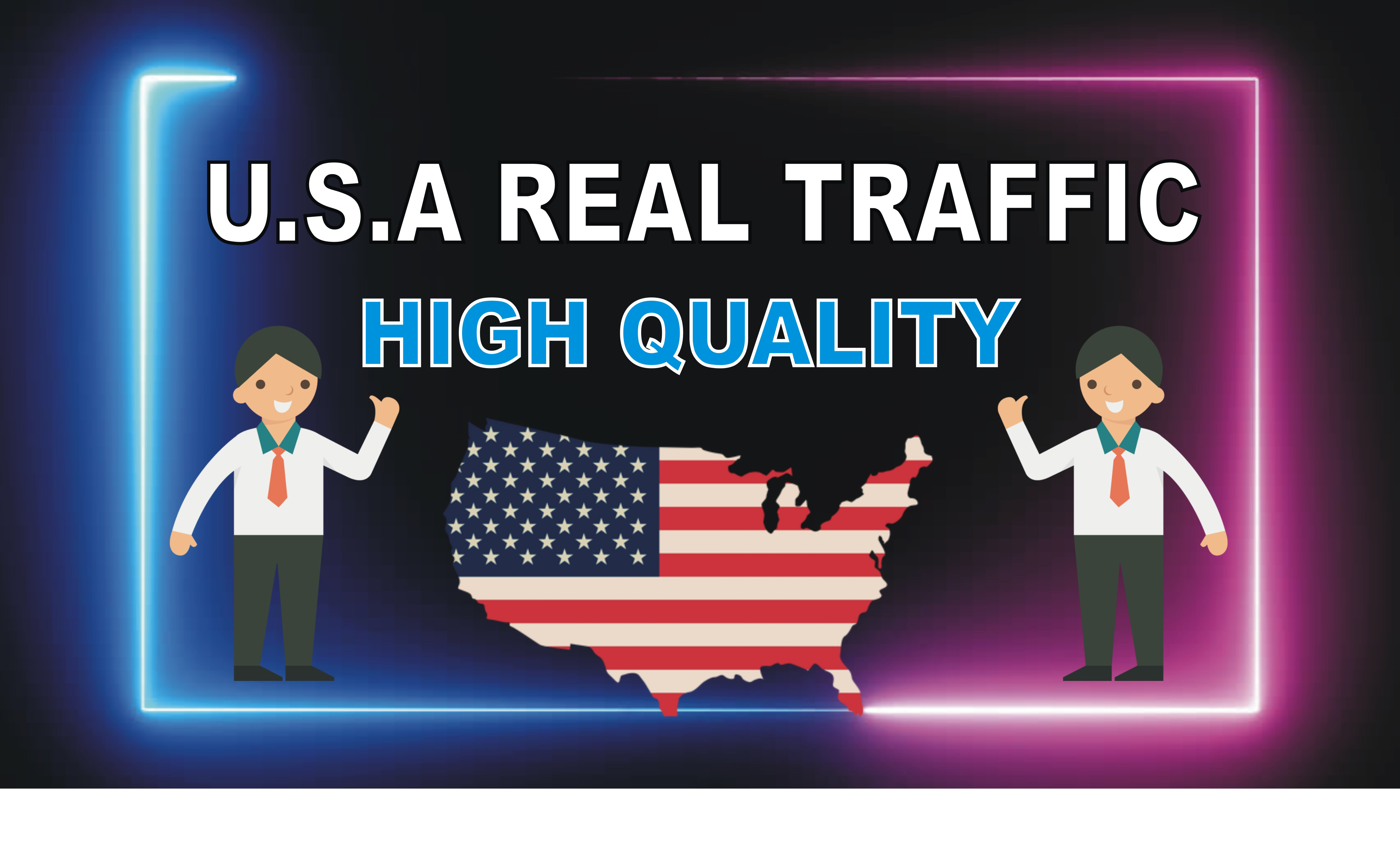 keyword target U.S.A UNLIMITED website traffic with low bounce rate