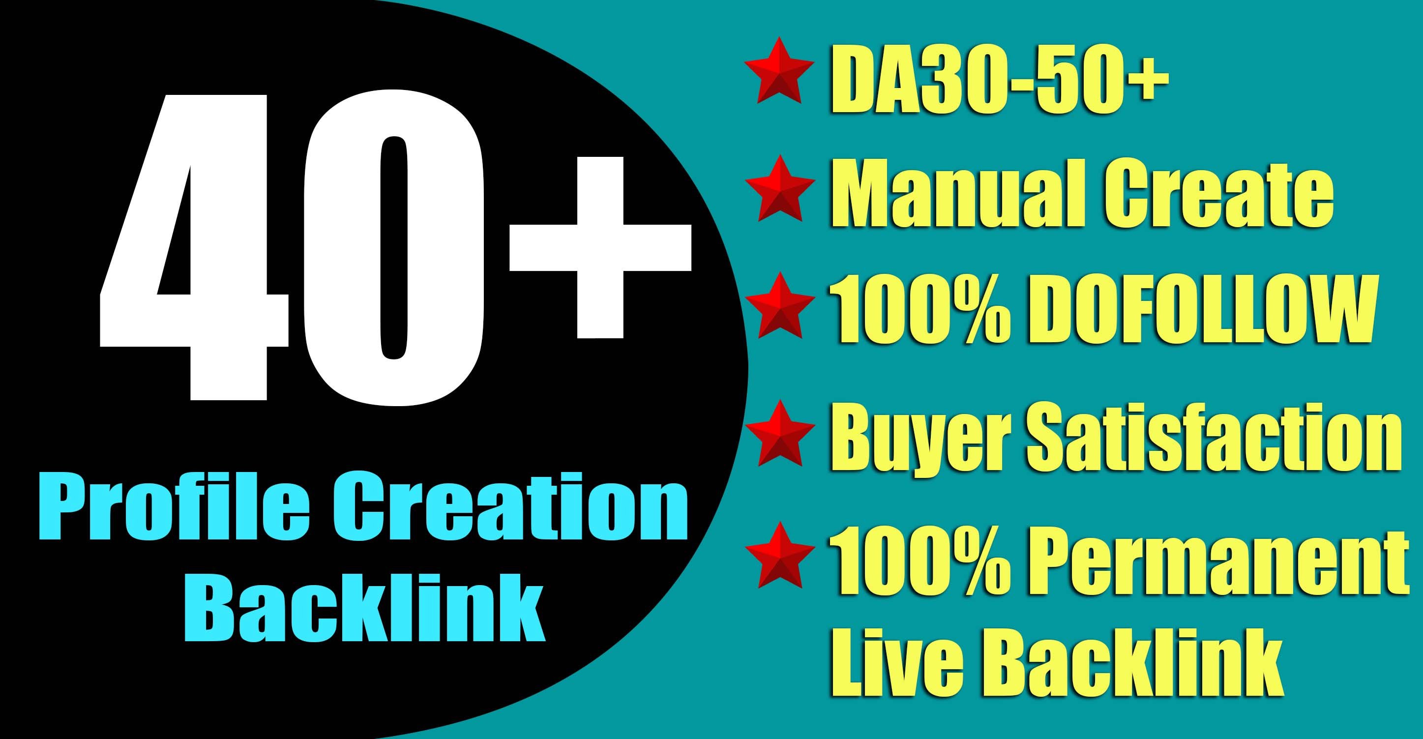 Manual 40+ Profile Creation Backlink with 500 Website Traffic To Rank Your Website
