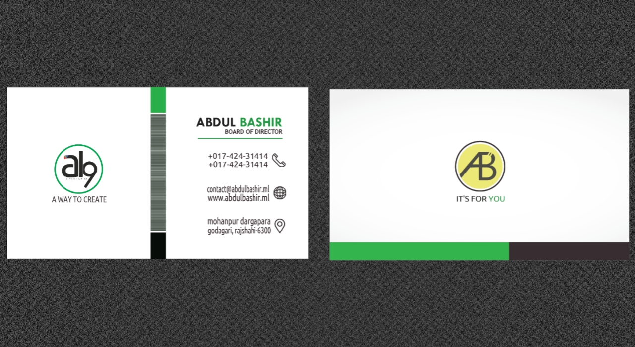 Professional & attractive business card design